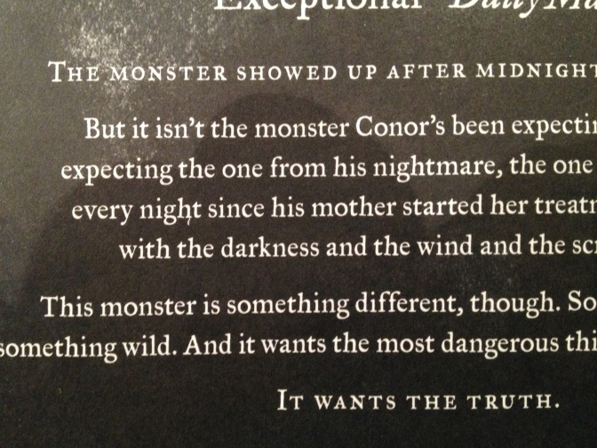 What's That Coming Over The Hill? Is It…………A Monster Calls by Patrick Ness