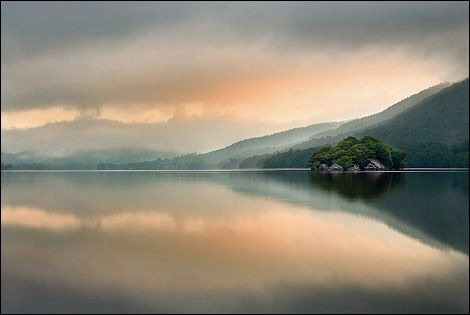 Dawn over Coniston Water