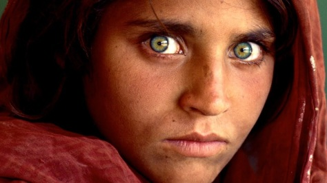 Steve McCurry's iconic image of an Afghan child for National Geographic Magazine in the mid 80's