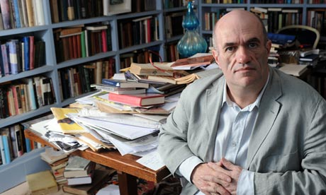 Colm Toibin - he writes better than me but my desk is tidier than his!