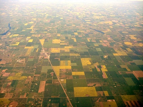 From above Saskatchewan looks like a bloody long walk!